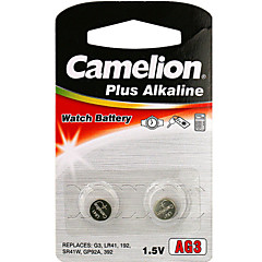 Camelion AG3 Coin Button Cell Alkaline Battery 1.2V 2 Pack