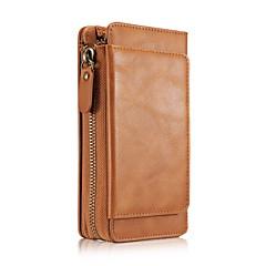 Назначение iPhone 8 iPhone 8 Plus Чехлы панели Бумажник для карт Кошелек Чехол Кейс для Сплошной цвет Мягкий Натуральная кожа для Apple