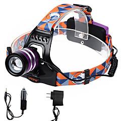 U'King Hoofdlampen Koplamp LED 2000 lm 3 Modus Cree XM-L T6 Verstelbare focus Gemakkelijk draagbaar Hoog vermogen Zoombare voor