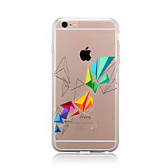 Недорогие Кейсы для iPhone 4s / 4-Кейс для Назначение Apple iPhone X / iPhone 8 / iPhone 8 Plus С узором Кейс на заднюю панель Геометрический рисунок Мягкий ТПУ для iPhone X / iPhone 8 Pluss / iPhone 8