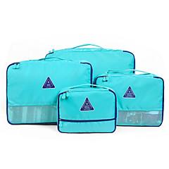 4 stuks Reistas Reisbagageorganizer waterdicht Opbergproducten voor op reis Multifunctioneel voor Kleding Beha's Stof voor Reizen