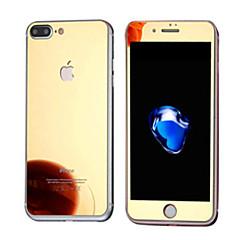Недорогие Защитные плёнки для экранов iPhone 7 Plus-Защитная плёнка для экрана Apple для iPhone 7 Plus Закаленное стекло 1 ед. Защитная пленка для экрана и задней панели Зеркальная