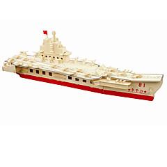 Puzzles Sets zum Selbermachen Bausteine 3D - Puzzle Bildungsspielsachen Holzpuzzle Bausteine Spielzeug zum Selbermachen Flugzeugträger 1