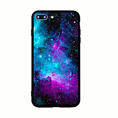 Voor iPhone X iPhone 8 Hoesje cover Patroon Achterkantje hoesje Hemel Landschap Hard Acryl voor Apple iPhone X iPhone 7s Plus iPhone 8