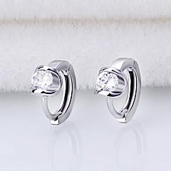 billige Hoop Øreringe-Store øreringe Kvadratisk Zirconium Imiteret Perle Smykker Sølv Bryllup Fest Daglig Afslappet Kostume smykker