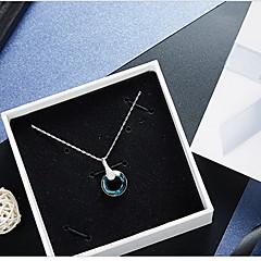 preiswerte Halsketten-Kristall Anhängerketten - Krystall Anhänger Stil, Grundlegend Dunkelblau Modische Halsketten Für Alltag, Normal