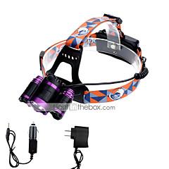 preiswerte Stirnlampen-3000 lm lm Stirnlampen LED 4.0 Modus - U'King Zoomable- / einstellbarer Fokus / Kompakte Größe