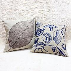 tanie Poduszki-1 szt Cotton / Linen Poszewka na poduszkę, Wzory graficzne Martwa natura Na co dzień Na wolnym powietrzu Akcent / Decorative Retro Modern