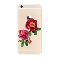 Недорогие Кейсы для iPhone 7-Кейс для Назначение Apple iPhone X iPhone 8 Plus Прозрачный С узором Кейс на заднюю панель Цветы Мягкий ТПУ для iPhone X iPhone 8 Pluss