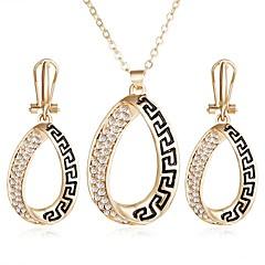 tanie -Damskie Zestawy biżuterii Rhinestone Unikalny Impreza Casual Stop Geometric Shape 1 Naszyjnik 1 parę kolczyków
