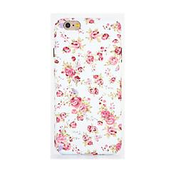 Недорогие Кейсы для iPhone 6 Plus-Для Сияние в темноте Рельефный С узором Кейс для Задняя крышка Кейс для Цветы Мягкий TPU для AppleiPhone 7 Plus iPhone 7 iPhone 6s Plus