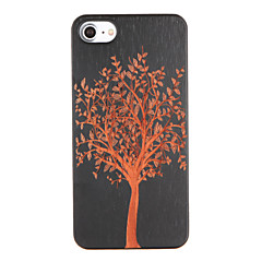 Недорогие Кейсы для iPhone 7-Кейс для Назначение iPhone 7 Plus IPhone 7 Apple С узором Рельефный Кейс на заднюю панель дерево Твердый деревянный для iPhone 7 Plus