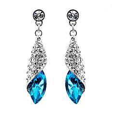 preiswerte Ohrringe-Damen Kristall Tropfen-Ohrringe - Krystall Tropfen Erklärung, Modisch, Elegant Grün / Rosa / Hellblau Für Party Geburtstag Geschenk