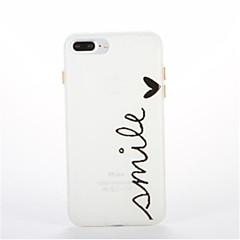 Для Сияние в темноте С узором Кейс для Задняя крышка Кейс для Слова / выражения Мягкий TPU для AppleiPhone 7 Plus iPhone 7 iPhone 6s Plus