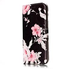 tanie Galaxy S6 Etui / Pokrowce-Kılıf Na Samsung Galaxy S8 S7 edge Etui na karty Portfel Z podpórką Flip Magnetyczne Wzór Pełne etui Kwiaty Twarde Skóra PU na S8 S7 edge