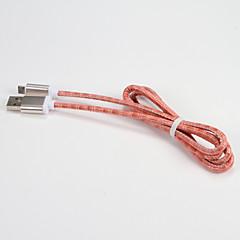 USB 2.0 Micro USB 2.0 Kannettava Kaapeli Käyttötarkoitus Samsung Huawei Sony Nokia HTC Motorola LG Lenovo Xiaomi 100 cm PU-nahka Metalli