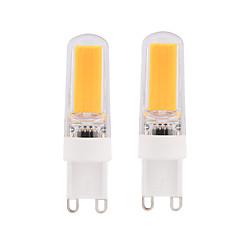 preiswerte LED-Birnen-BRELONG® 2pcs 3W 280lm E14 G9 G4 LED Mais-Birnen T 1 LED-Perlen COB Abblendbar Warmes Weiß Weiß 220V