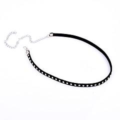 preiswerte Halsketten-Damen Einzelkette Halsketten - Europäisch, Simple Style, Modisch Schwarz Modische Halsketten Für Party, Alltag, Normal