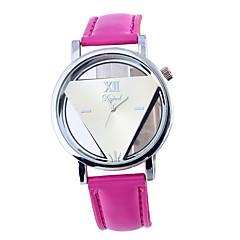 お買い得  メンズ腕時計-女性用 リストウォッチ クォーツ ホット販売 レザー バンド ハンズ カジュアル ファッション 白 / 黄色 / ローズ - ホワイト イエロー フクシャ