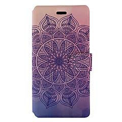 Для Бумажник для карт со стендом Флип С узором Кейс для Чехол Кейс для Мандала Твердый Искусственная кожа для HuaweiHuawei P9 Lite Huawei