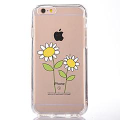 Недорогие Кейсы для iPhone 7 Plus-Кейс для Назначение Apple iPhone 7 Plus iPhone 7 Прозрачный С узором Кейс на заднюю панель Цветы Мягкий ТПУ для iPhone 7 Plus iPhone 7