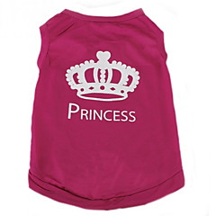 cheap Dog Supplies-Cat Dog Shirt / T-Shirt Dog Clothes Tiaras & Crowns Rose Terylene Costume For Pets Women's Casual/Daily Fashion