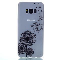 Voor Glow in the dark Mat Doorzichtig Patroon hoesje Achterkantje hoesje Paardenbloem Zacht TPU voor SamsungS8 S8 Plus S7 edge S7 S6 edge