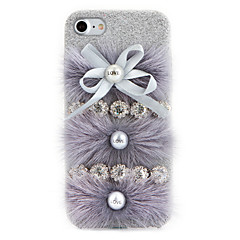 Voor Strass DHZ hoesje Achterkantje hoesje Effen kleur Hard Textiel voor Apple iPhone 7 Plus iPhone 7 iPhone 6s Plus/6 Plus iPhone 6s/6