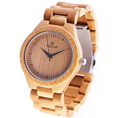 preiswerte Damenuhren-Damen Armbanduhr Japanisch Quartz hölzern Holz Band Analog Charme Freizeit Holz Gelb