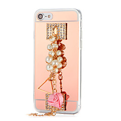 Для Стразы Покрытие Зеркальная поверхность Своими руками Кейс для Задняя крышка Кейс для Цветы Твердый Акрил для AppleiPhone 7 Plus