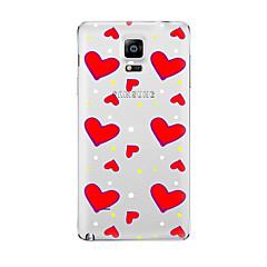 halpa Galaxy Note 4 kotelot / kuoret-Varten Läpinäkyvä Kuvio Etui Takakuori Etui Sydän Pehmeä TPU varten Samsung Note 5 Note 4 Note 3 Note 2