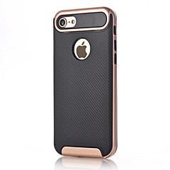 Mert Ütésálló Case Hátlap Case Egyszínű Kemény Szénszál mert Apple iPhone 7 Plus iPhone 7 iPhone 6s Plus iPhone 6 Plus iPhone 6s iPhone 6