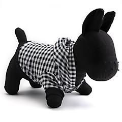 お買い得  猫の服-ネコ / 犬 パーカー 犬用ウェア 格子柄 ブラック コットン コスチューム ペット用