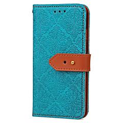 olcso Galaxy S6 tokok-Case Kompatibilitás Samsung Galaxy S7 edge S7 Kártyatartó Pénztárca Állvánnyal Flip Dombornyomott Minta Teljes védelem Csempe Kemény