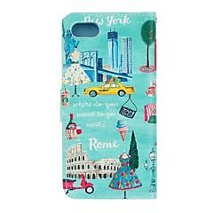 Для Кошелек Бумажник для карт со стендом Флип Кейс для Чехол Кейс для Панорама города Твердый Искусственная кожа для AppleiPhone 7 Plus