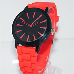 お買い得  レディース腕時計-女性用 クォーツ リストウォッチ シリコーン バンド カジュアル ファッション レッド グリーン ピンク