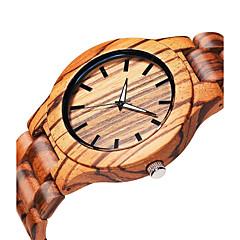 お買い得  メンズ腕時計-男性用 リストウォッチ クォーツ 木製 ウッド バンド ハンズ エレガント ベージュ