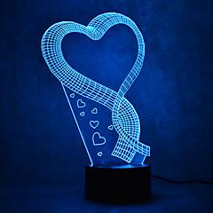 preiswerte Ausgefallene LED-Beleuchtung-1 Stück 3D Nachtlicht Mehrfarbig USB Sensor Abblendbar Wasserfest Farbwechsel