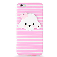 cheap iPhone Cases-Case For Apple iPhone 7 Plus iPhone 7 IMD Mirror DIY Back Cover Dog Soft TPU for iPhone 7 Plus iPhone 7 iPhone 6s Plus iPhone 6s iPhone 6