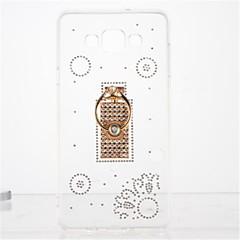 For Rhinsten Ringholder Transparent GDS Etui Bagcover Etui Mosaik mønster Blødt TPU for Samsung A7