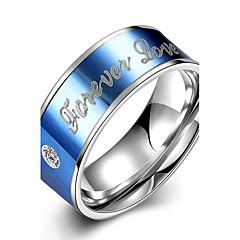 Жен. Классические кольца Кристалл Мода Простой стиль Свадьба Титановая сталь Алфавит Бижутерия Назначение Свадьба Для вечеринок Особые