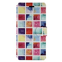 Недорогие Чехлы и кейсы для Huawei серии Y-Кейс для Назначение Huawei P9 Lite Huawei Huawei P8 Lite Huawei Honor 5X Бумажник для карт со стендом Флип С узором Чехол Плитка Твердый
