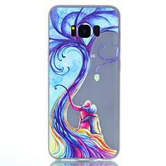 halpa Galaxy S4 Mini kotelot / kuoret-Etui Käyttötarkoitus Samsung Galaxy S8 Plus S8 Hehkuu pimeässä Himmeä Läpinäkyvä Kuvio Takakuori Puu Pehmeä TPU varten S8 S8 Plus S7 edge