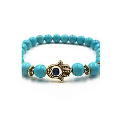 للرجال للمرأة أساور حبلا علاج المغناطيس والمجوهرات فيروز العين الشريرة مجوهرات من أجل