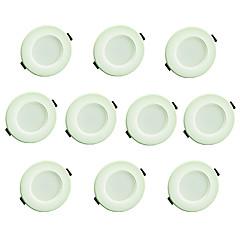 olcso Beltéri lámpák-3 W 200lm 8 LED Könnyű beszerelni Süllyesztett kapcsolók Panel izzók Meleg fehér Hideg fehér AC 220
