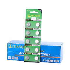 tmmq AG10 kolikko& nappiparistolla emäksinen / emäksinen akku 1.55V 40 pack