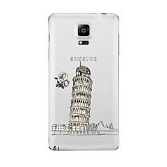 tanie Galaxy Note 3 Etui / Pokrowce-Kılıf Na Samsung Galaxy Przezroczyste Wzór Czarne etui Widok miasta Miękkie TPU na Note 5 Note 4 Note 3 Note 2
