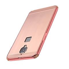 お買い得  その他のケース-ケース 用途 OnePlus ワンプラス3 メッキ仕上げ バックカバー 純色 ハード アルミニウム のために One Plus 3 One Plus 3T One Plus 2 One Plus X OnePlus