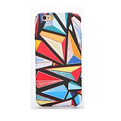Недорогие Кейсы для iPhone 6 Plus-Для Сияние в темноте Рельефный С узором Кейс для Задняя крышка Кейс для Геометрический рисунок Мягкий TPU для AppleiPhone 7 Plus iPhone 7