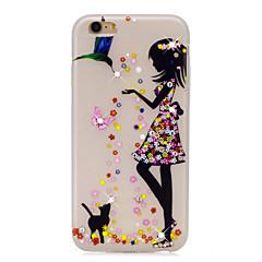 Для Стразы Сияние в темноте С узором Кейс для Задняя крышка Кейс для Соблазнительная девушка Мягкий TPU для AppleiPhone 7 Plus iPhone 7